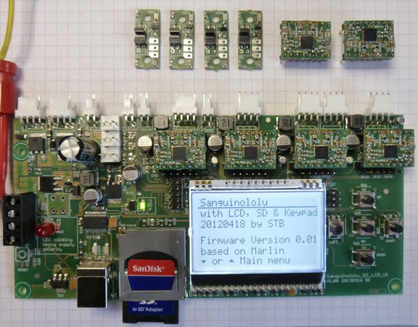 Neue RepRap Elektronik basierend auf Sanguinololu
